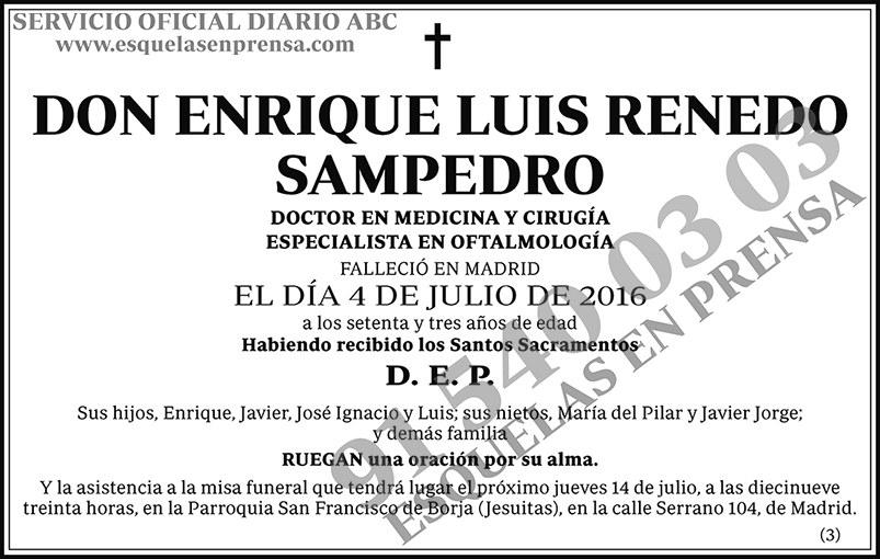 Enrique Luis Renedo Sampedro